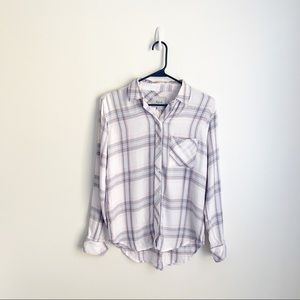 NWT Rails Soft Plaid Button Down Shirt